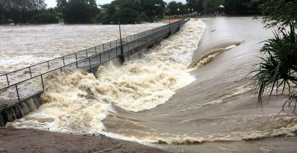 Townsville Floods Aplins Weir